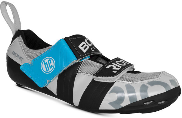 Bont Riot TR+ Triathlon Shoes Color: Pearl White/Black