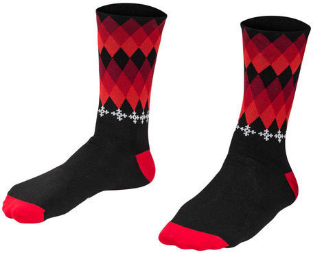 "Bontrager 5"" Holiday Cycling Socks Color: Black"