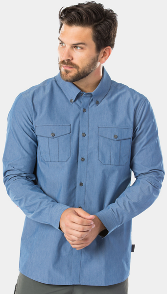 Bontrager Adventure Cycling Chambray Shirt Color: Chambray Blue