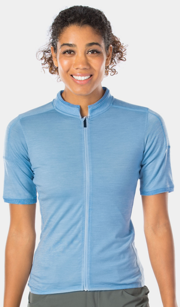 Bontrager Adventure Women's Wool Blend Cycling Jersey Color: Chambray Blue