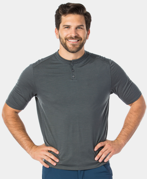 Bontrager Adventure Wool Blend Cycling Henley Color: Dnister Black