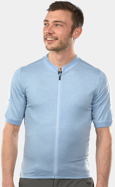 Bontrager Adventure Wool Blend Cycling Jersey Color: Chambray Blue