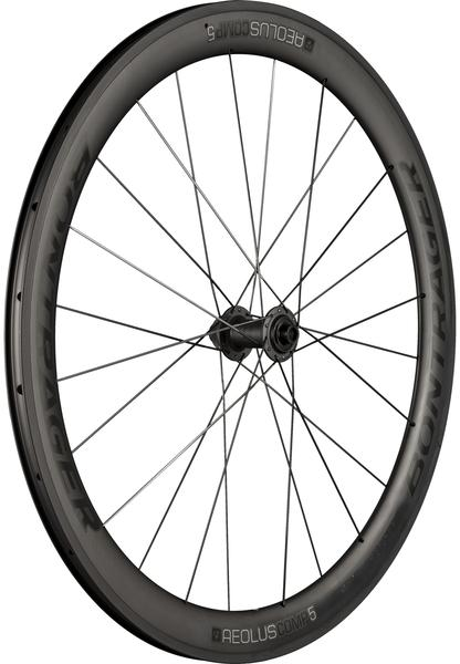 Bontrager Aeolus Comp 5 TLR Disc Road Front Wheel Color: Black/Anthracite