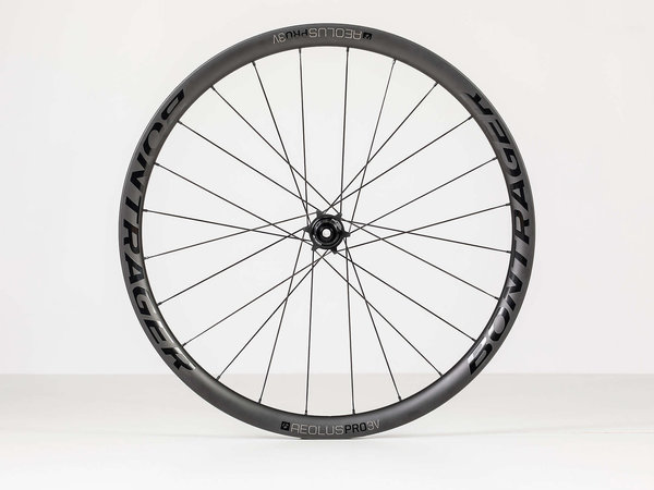 Bontrager Aeolus Pro 3V TLR Disc Road Wheel 700c Rear Color: Black/Anthracite