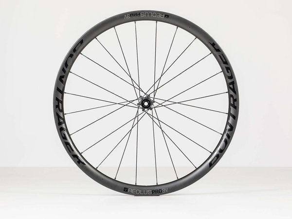 Bontrager Aeolus Pro 3V TLR Disc Road Wheel 700c Front Color: Black/Anthracite