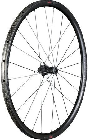 Bontrager Aeolus XXX 2 Tubular Disc Front Color: Black/Red