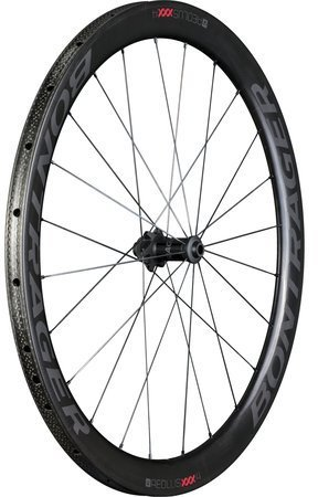 Bontrager Aeolus XXX 4 Tubular Disc Front Color: Black/Red