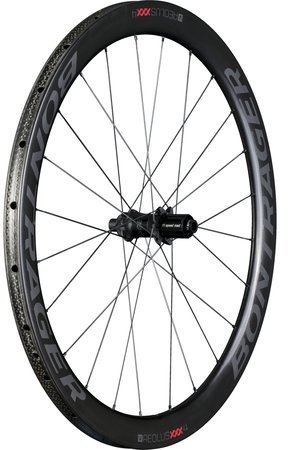 Bontrager Aeolus XXX 4 Tubular Disc Rear Color: Black/Red