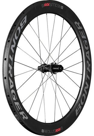 Bontrager Aeolus XXX 6 Tubular Disc Rear Color: Black/Red