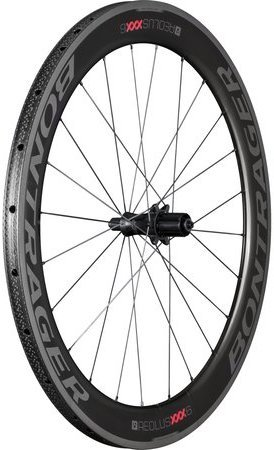 Bontrager Aeolus XXX 6 Tubular Rear Color: Black/Red