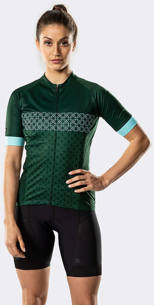 Bontrager Anara LTD Women's Cycling Jersey Color: British Racing Green/Miami Green