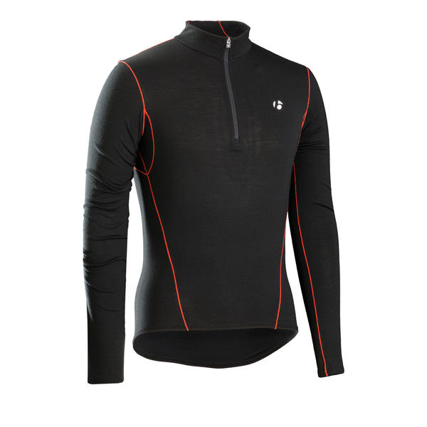 Bontrager B3 1/4-Zip Long Sleeve Baselayer Color: Black
