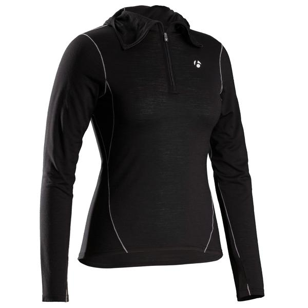 Bontrager B2 Hooded Long Sleeve Women's Baselayer Color: Black