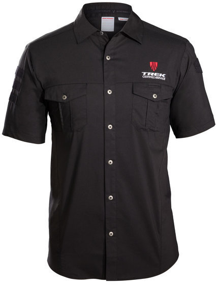 Bontrager Certified Service Short Sleeve Botton Down Shirt Color: Black