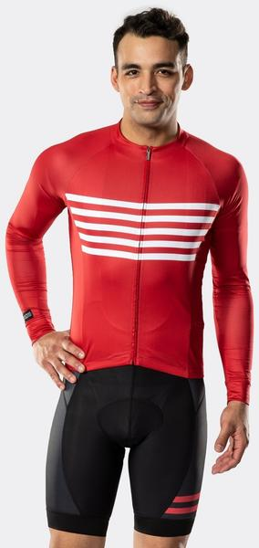 Bontrager Circuit Long Sleeve Cycling Jersey Color: Cardinal