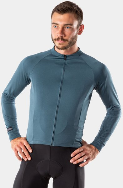Bontrager Circuit Long Sleeve Cycling Jersey Color: Battleship Blue