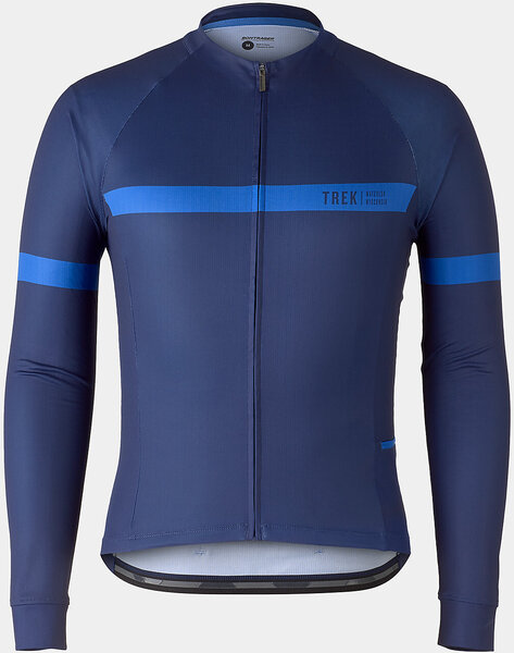 Bontrager Circuit Long Sleeve Cycling Jersey Color: Deep Dark Blue/Alpine Blue