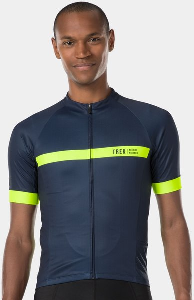 Bontrager Circuit LTD Cycling Jersey Color: Deep Dark Blue/Radioactive Yellow
