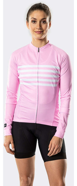 Bontrager Circuit Women's Long Sleeve Cycling Jersey Color: Pink/White
