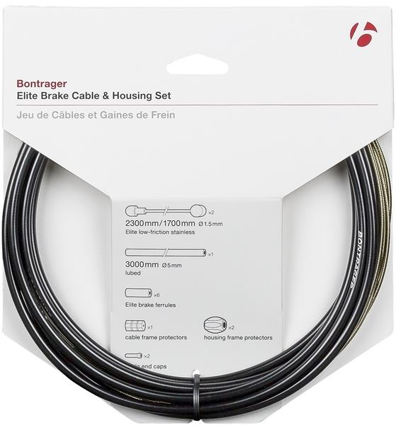 Bontrager Elite Brake Cable & Housing Set Color | Diameter | Length: Black | 5mm | 2300mm|1700mm