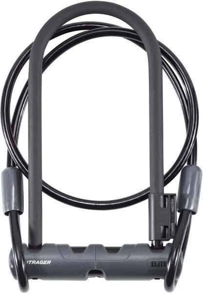Bontrager Elite Keyed U-Lock with Cable Color: Black