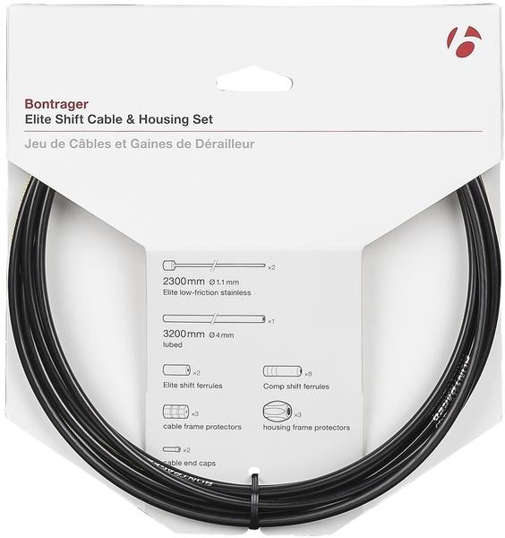 Bontrager Elite Shift Cable & Housing Set Color | Diameter | Length: Black | 4mm | 2300mm|2300mm