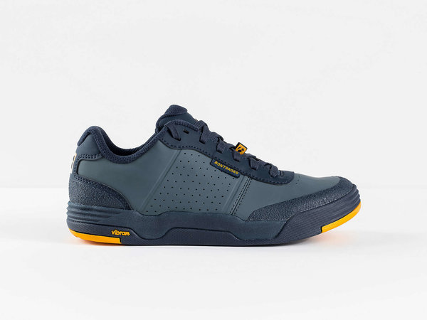 Bontrager Flatline Mountain Shoe Color: Battleship Blue/Marigold