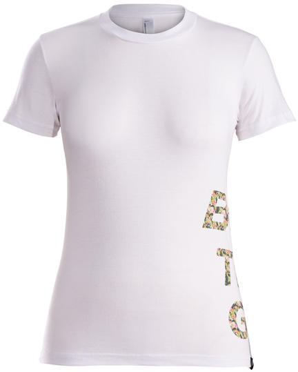 Bontrager Floral Stacked Logo Women's T-Shirt Color: White