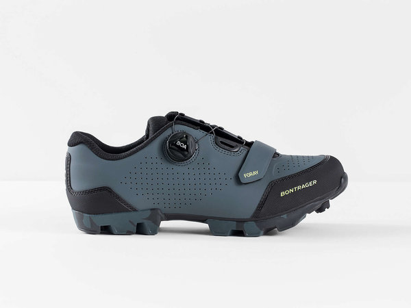 Bontrager Foray Mountain Shoe Color: Battleship Blue/Volt