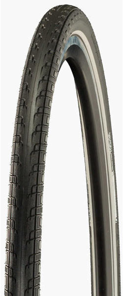 Bontrager H2 Hard-Case Lite Hybrid Tire 700c Color: Black/Grey