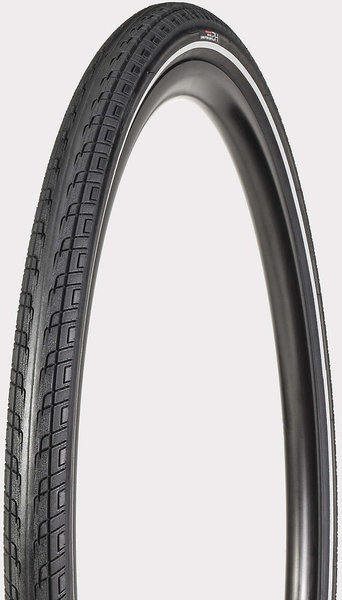 Bontrager H2 Hard-Case Ultimate Reflective Hybrid Tire 700C Color: Black/Reflective