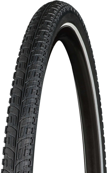 Bontrager H5 Hard-Case Lite Reflective Hybrid Tire 26-inch Color: Black/Reflective