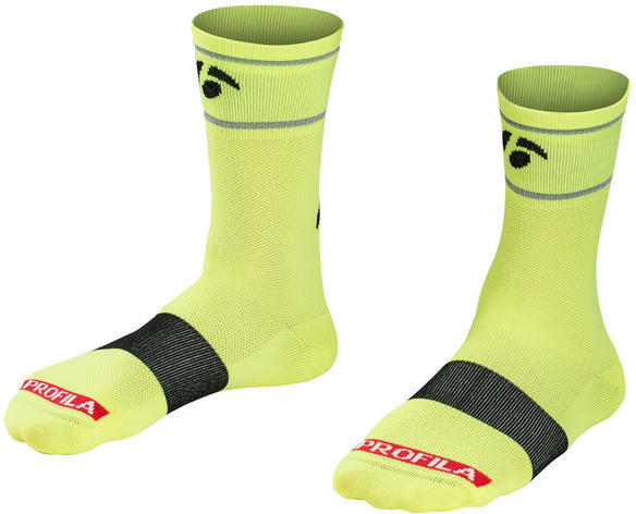 Bontrager Halo 5-inch Cycling Sock Color: Visibility Yellow