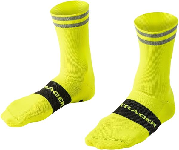Bontrager Halo Crew Cycling Sock Color: Radioactive Yellow