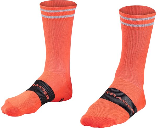 Bontrager Halo Crew Cycling Sock Color: Radioactive Orange