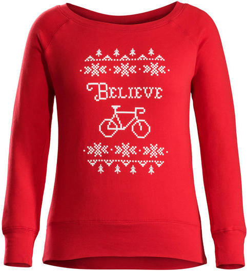 Bontrager Holiday Women's Sweatshirt Color: Red