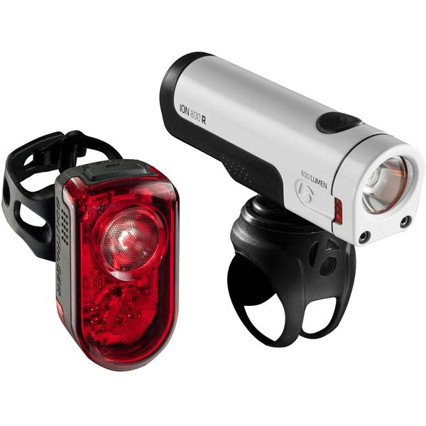 Bontrager Ion 800 R / Flare R Light Set Color: White/Red