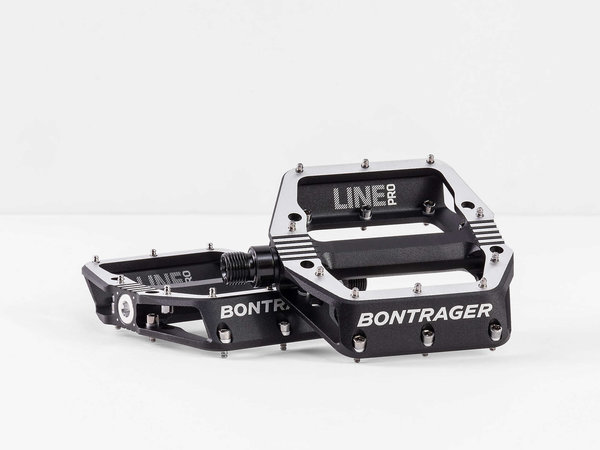 Bontrager Line Pro MTB Pedal Set Color: Black/Polished Silver