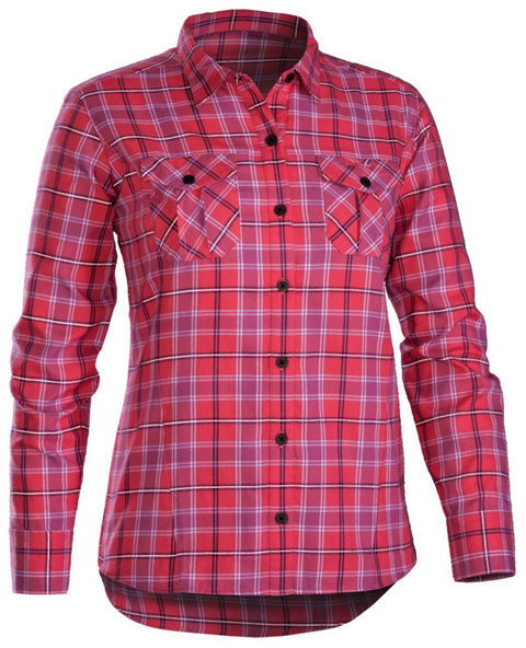 Bontrager Lucette Flannel Long Sleeve Shirt Color: Sorbet Plaid