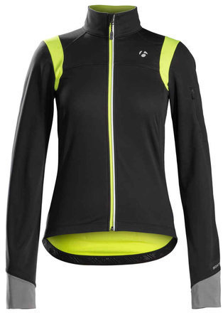 Bontrager Meraj S2 Softshell Women's Jacket Color: Black/Visibility Yellow