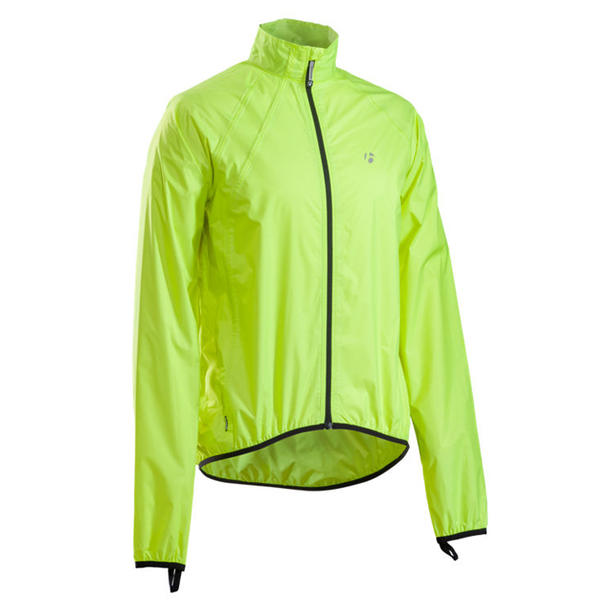 Bontrager Packable Stormshell Color: Hi-Vis Yellow