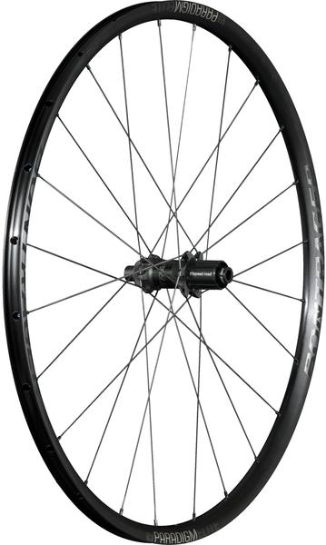 Bontrager Paradigm Elite TLR Disc Road Wheel 700c Rear Color: Black/Anthracite