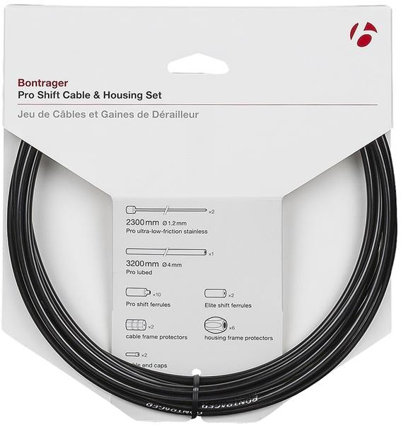 Bontrager Pro Shift Cable & Housing Set Color: Black