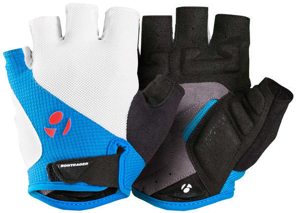 Bontrager Race Gel Gloves Color: White/Waterloo Blue