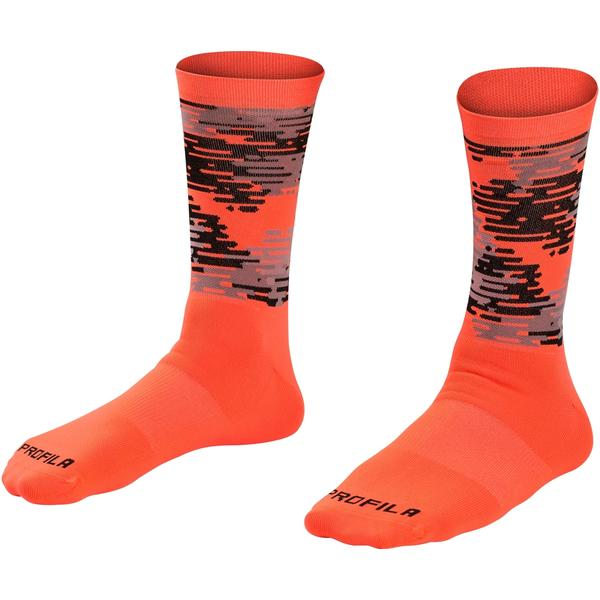 Bontrager Race LTD Crew Cycling Sock Color: Radioactive Orange