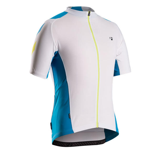 Bontrager Race Short Sleeve Jersey Color: White / Cyan