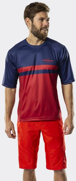 Bontrager Rhythm Mountain Tech Tee Color: Navy/Dark Red