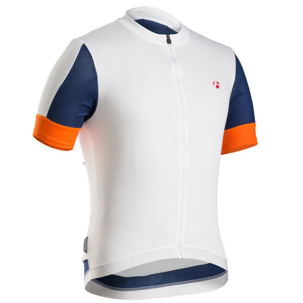 Bontrager RXL Short Sleeve Jersey Color: White/Fathom/Firebrand