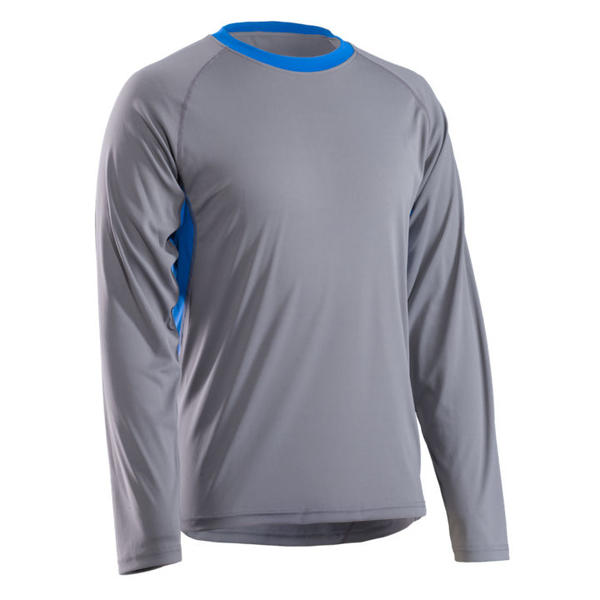 Bontrager Solstice Long Sleeve Tech Tee Color: Gray / Blue