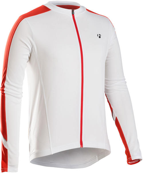 Bontrager Starvos Long Sleeve Jersey Color: White/Bonty Red